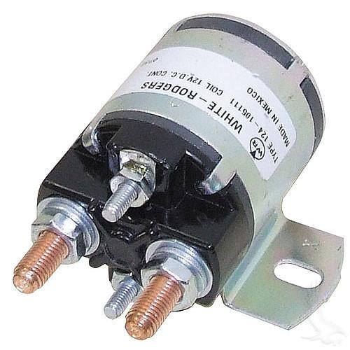 Solenoid, 12V 4 Terminal Silver, Yamaha G2-G16 4-cycle Gas 85+