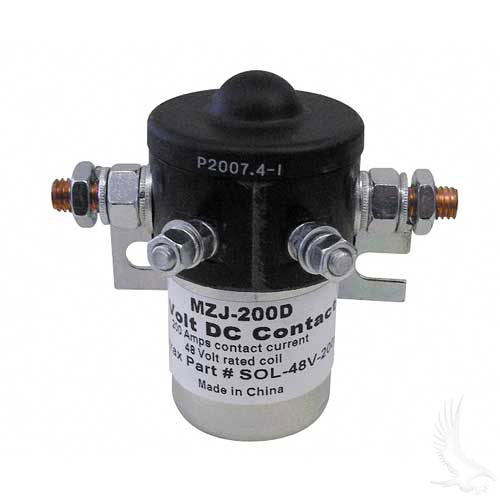 Solenoid, 200A 48V Universal Golf Cart Mounted solenoid