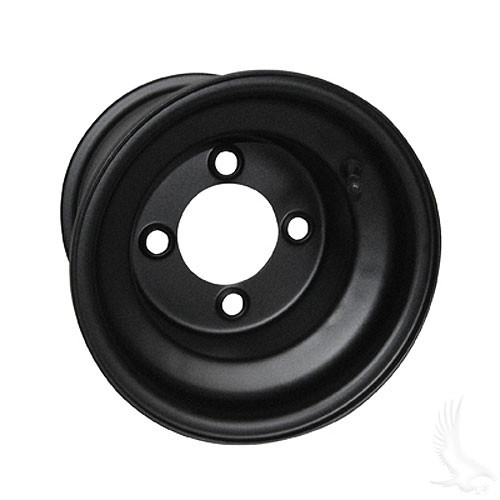 "Steel, Black, 8x7 Standard Standard 8"" Golf Cart Wheel"