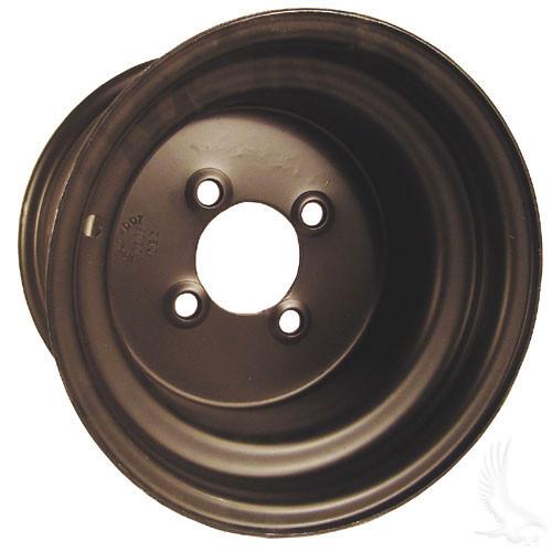 """Steel, Black, 10x8 3:5 offset Standard 10"""" Golf Cart Wheel"""
