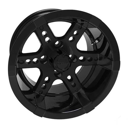 RHOX RX252, Black w/ Center Cap, 12x7 ET-25  Aluminum Wheels