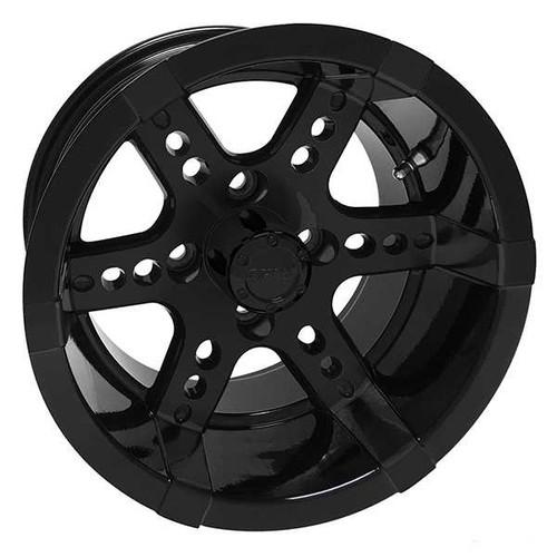 "RHOX RX262 14"" Aluminum Wheel Black with Center Cap"