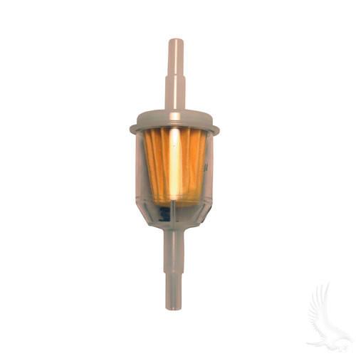 Fuel Filter, E-Z-Go TXT 4-cy 94+, RXV, Club Car 92+, Yamaha G1 2-cy 78-89, G14/16/20-G22 4-cy 94+