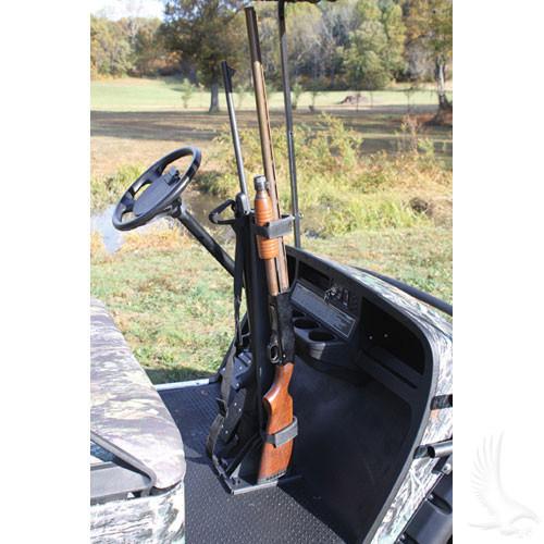Floor Mounted Dual Gun Rack adjustable universal