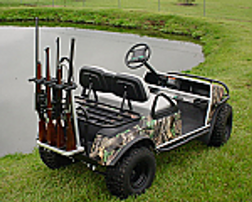 Rear Mount Gun Rack for up to 4 guns Aluminum Finish