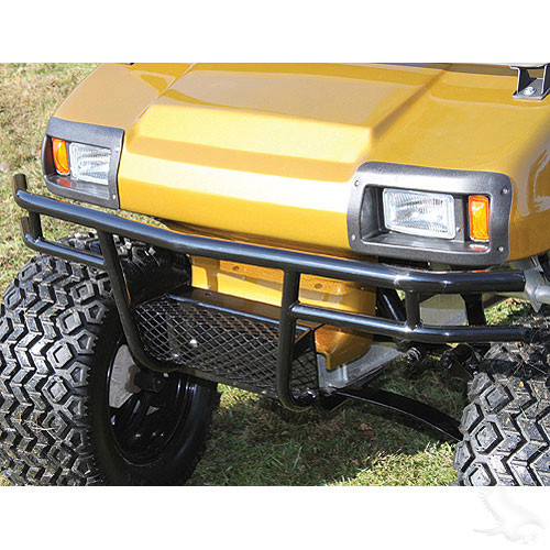 Brush Guard, Front Steel, Club Car DS with Winch/Lightbar Mounting Plate