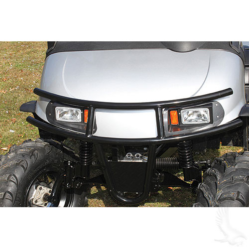 Brush Guard, Front Black Powder Coat Steel, E-Z-Go RXV