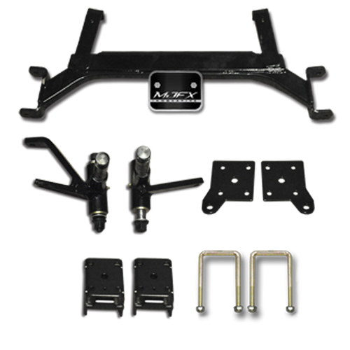 "Madjax 5"" Drop Axle Lift kit for E-Z-Go TXT includes new Spindles."