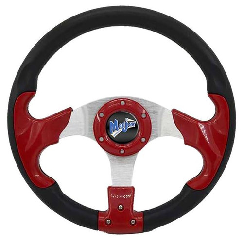 Madjax STEERING WHEEL RED/BLK MADJAX PARTS