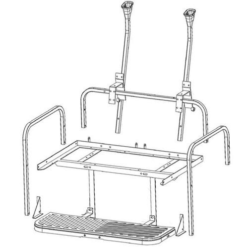 GTW MACH3 Steel Rear Seat Frame Only for Club Car Precedent