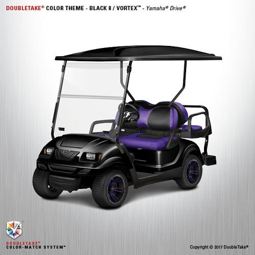 Yamaha Drive Doubletake Vortex Golf Cart Body Kit in Black