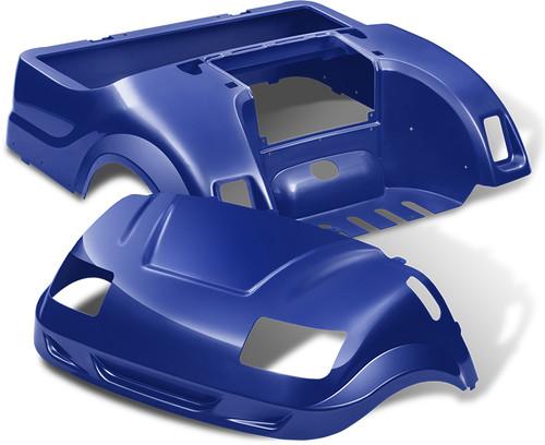 Yamaha Drive Doubletake Vortex Golf Cart Body Kit in Blue
