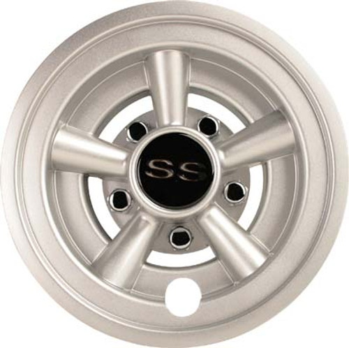 "8"" Silver Metallic SS Wheel Covers (Set of 4)"