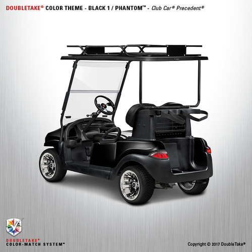 Doubletake Phantom Golf Cart Body Kit for Club Car Precedent in High Gloss Black