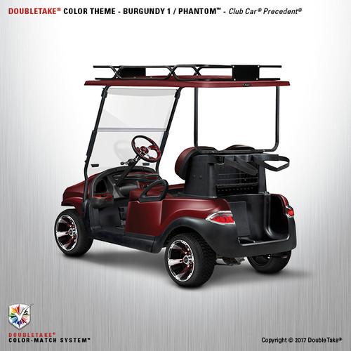 Doubletake Phantom Golf Cart Body Kit for Club Car Precedent in High Gloss Metallic Burgundy