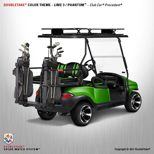 Doubletake Phantom Golf Cart Body Kit for Club Car Precedent in High Gloss Metallic Lime Green