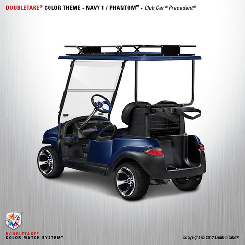 Doubletake Phantom Golf Cart Body Kit for Club Car Precedent in High Gloss Navy Blue