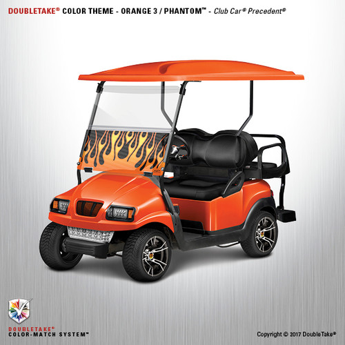 Doubletake Phantom Golf Cart Body Kit for Club Car Precedent in High Gloss Orange