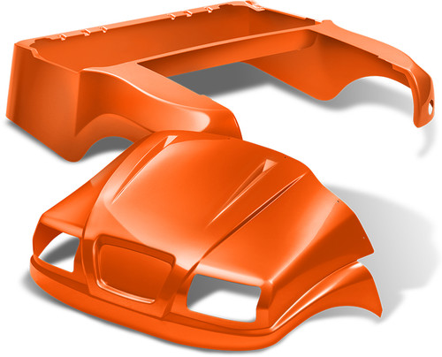 Doubletake Phantom Golf Cart Body Kit for Club Car Precedent in High Gloss Orange