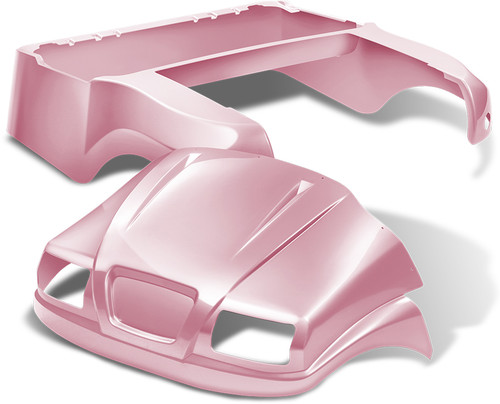 Doubletake Phantom Golf Cart Body Kit for Club Car Precedent in High Gloss Pink