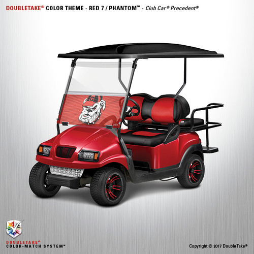 Doubletake Phantom Golf Cart Body Kit for Club Car Precedent in Red