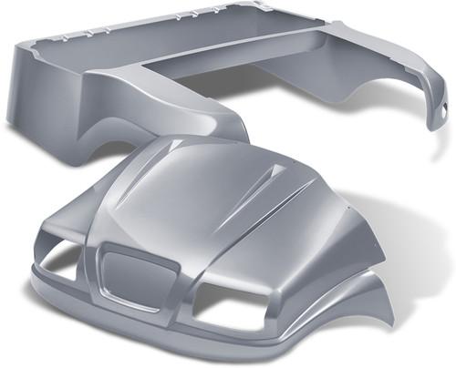 Doubletake Phantom Golf Cart Body Kit for Club Car Precedent in Metallic Silver