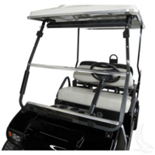 Windshield, AS4 Clear 2 Piece, Club Car DS 01.5+ with Black Struts