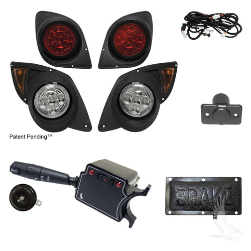 Build Your Own LED Factory Light Kit, Yamaha Drive (Deluxe, Pedal Mount)