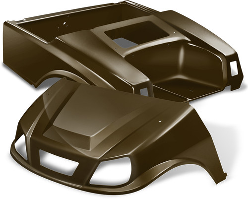 Club Car DS Spartan Golf Cart Body Kit in Metallic Bronze