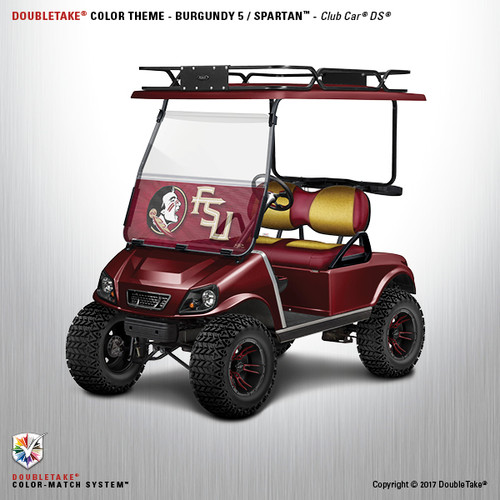 NEW Club Car DS Spartan Golf Cart Body Kit in Burgundy