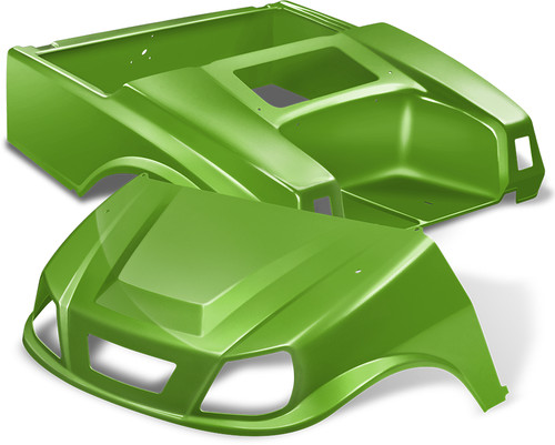 Club Car DS Spartan Golf Cart Body Kit in Lime Green