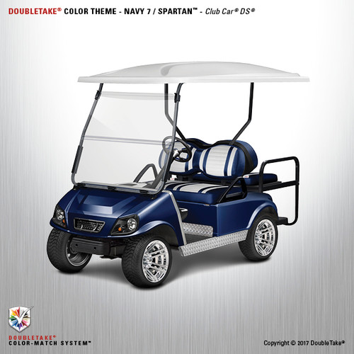 NEW Club Car DS Spartan Golf Cart Body Kit in Navy Blue
