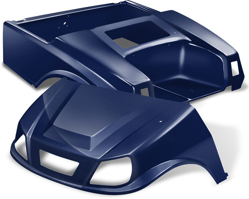 Club Car DS Spartan Golf Cart Body Kit in Navy Blue