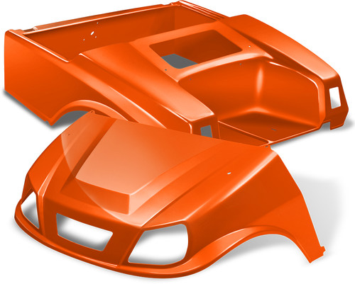 Club Car DS Spartan Golf Cart Body Kit in Orange