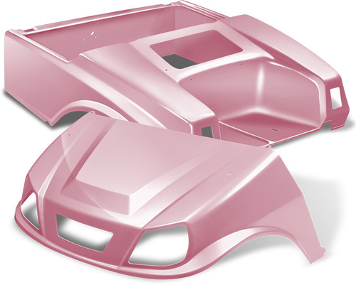 Club Car DS Spartan Golf Cart  Body Kit in Pink