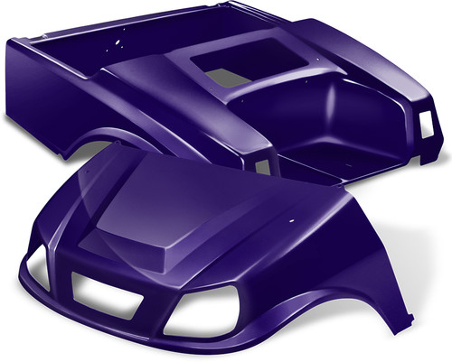 Club Car DS Spartan Golf Cart Body Kit in Purple