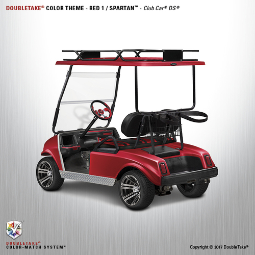 NEW Club Car DS Spartan Golf Cart Body Kit in Red