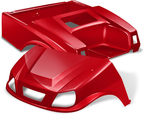 Club Car DS Spartan Golf Cart Body Kit in Red