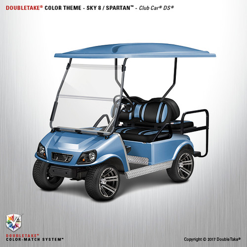 NEW Club Car DS Spartan Golf Cart Body Kit in Sky Blue