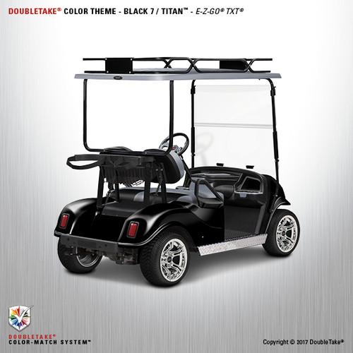 NEW EZ-GO Doubletake TXT Titan Golf Cart Body Kit in High Gloss Black