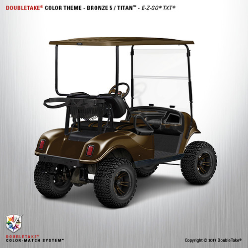 Doubletake EZ-GO TXT Golf Cart Titan Body Kit in Bronze with a Metallic High Gloss Finish.