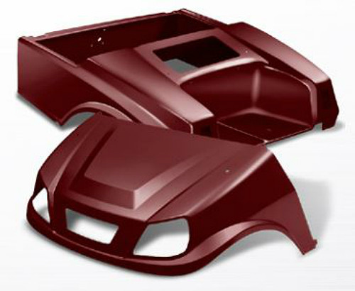 Doubletake EZ-GO TXT Titan Golf Cart Body Kit in Metallic High Gloss Burgundy