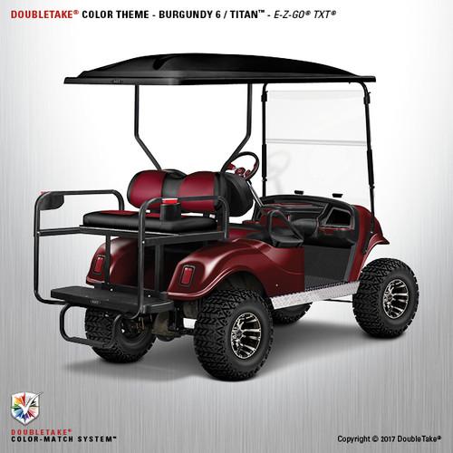 Doubletake EZ-GO TXT Titan Golf Cart Body Kit in Metallic High Gloss Burgundy
