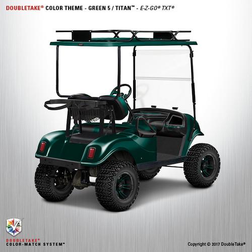 Doubletake EZ-GO TXT Titan Golf Cart Body Kit in High Gloss Green