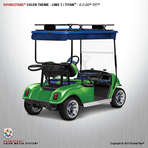 Doubletake EZ-GO TXT Titan Golf Cart Body Kit  in Metallic Lime Green