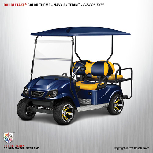 Doubletake EZ-GO TXT Titan Golf Cart Body Kit  in High Gloss Navy Blue