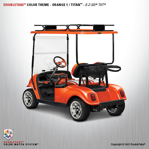 Doubletake EZ-GO TXT Titan Golf Cart Body Kit in High Gloss Orange