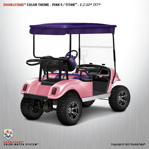Doubletake EZ-GO TXT Titan Golf Cart Body Kit in High Gloss Pink