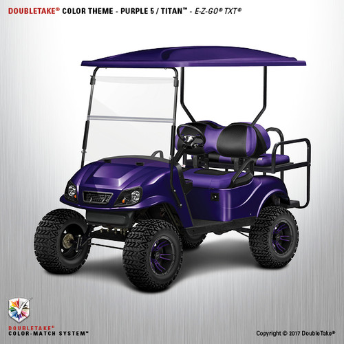 Doubletake EZ-GO TXT Titan Golf Cart Body Kit  in High Gloss Purple