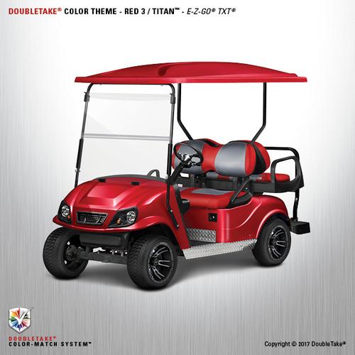 Doubletake EZ-GO TXT Titan Golf Cart Body Kit in High Gloss Red